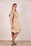 Женское батальное платье на лето 0294 цвет горчица до 74 размера / больших размеров, фото 3