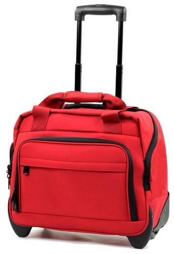 Бесподобная сумка дорожная на 2-колесах 21 л. полиэстер Members Essential On-Board Laptop 21, 922527 красный