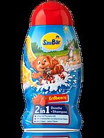 Шампунь - гель для душа SauBаr 2in1 Erdbeere 0,250 мл
