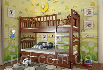 Детская деревянная двухъярусная кровать Смайл