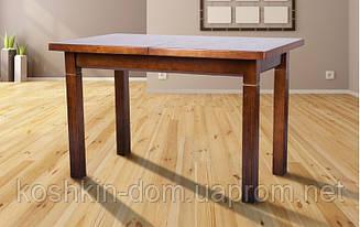 Стол обеденный Атлант Авангард орех раскладной массив ольхи 120(+40)*70 см