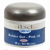 IBD LED/UV Builder Gel Pink III 95г - конструирующий камуфлирующий розовый гель. Холодный оттенок.