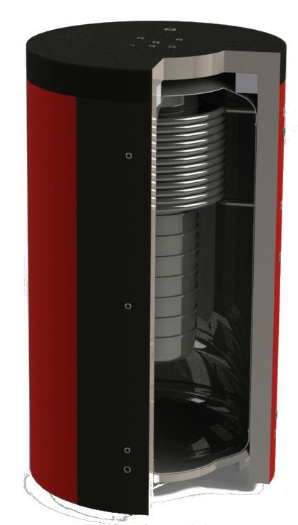 Бак аккумулятор тепла (буферная емкость) систем отопления KHT EAB-10-1500/85