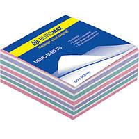 Блок бумаги для записей BUROMAX «ЗЕБРА» 90х90х40 склеенный