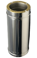 Сендвіч димар нержавійка в нержавіючій сталі L=1м 0,8 мм ф120/180 (утеплені двостінні труби для котлів), фото 1