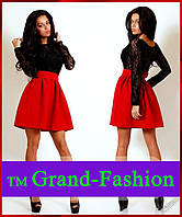 Платье BABYDOLL черный+красный