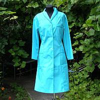 Халат медичний жіночий бірюзовий, фото 1