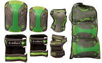 Защита для роликов детская Zelart SK-4685BKG размер L серо-зеленая