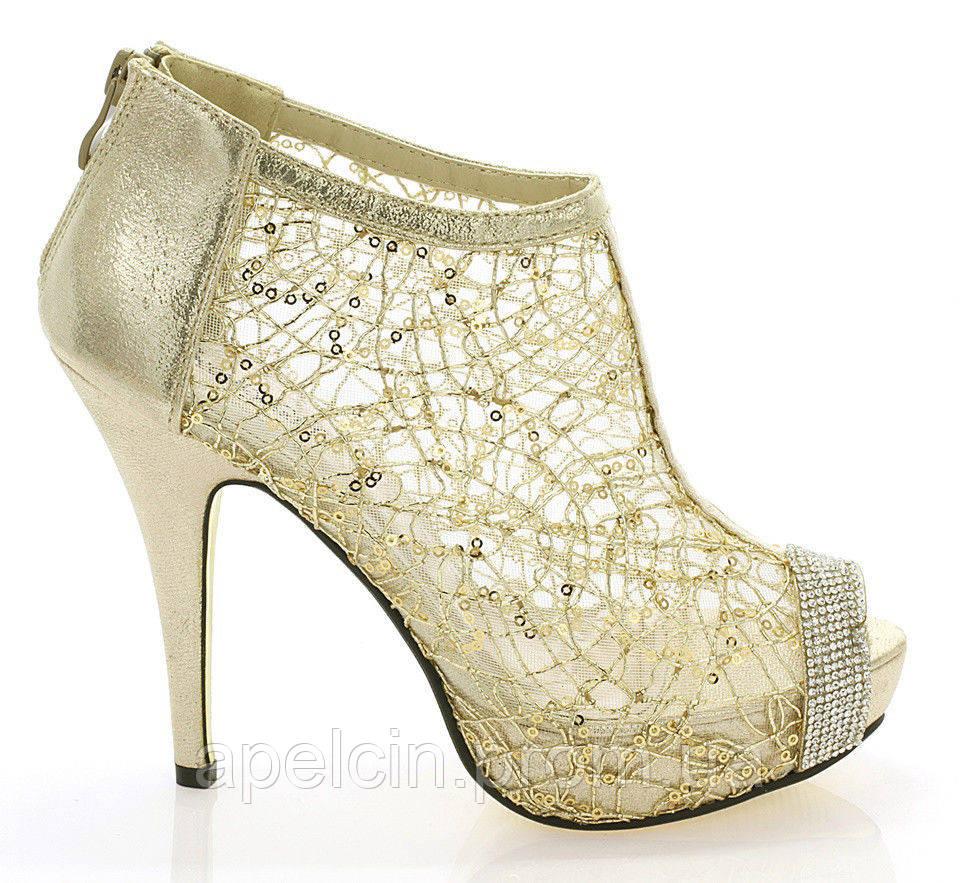 b41205d8fd8c Женские босоножки золотого цвета на каблуке, цена 600 грн., купить в ...