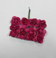 Цветок Роза бумажная малиновая