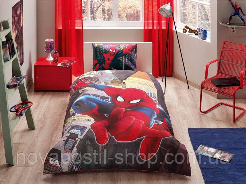 Комплект подросткового постельного белья SPIDER MAN IN CITY