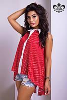 """Летняя женская рубашка """"Нэнси"""" (красный+белый), фото 1"""