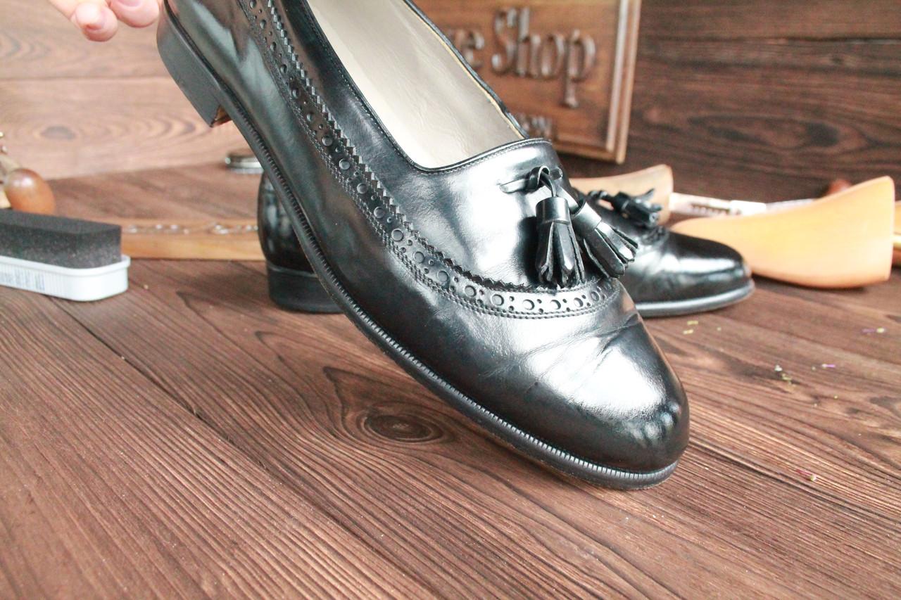 Кожаные мужские туфли  лоферы