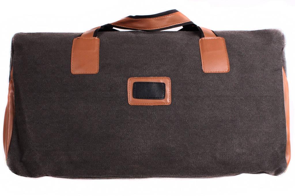 Дружная сумка с коричневыми вставками