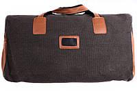 Дрожная сумка из коричневыми вставками