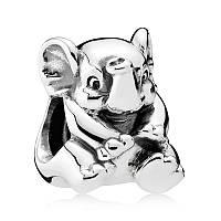 Подвеска-шарм Счастливый слон из серебра 925 пробы пандора (pandora)