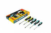 Набор отверток MasterTool 5 шт (PH0x75, PH1x75, SL2x100, SL5x75, SL6x100)
