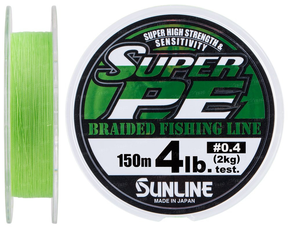 Шнур Sunline New Super PE 150м (салат.) #3.0/0.285мм 30LB/15кг