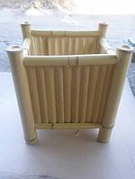 Бамбуковый вазон квадратный средний.