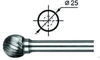 Борфрезы Сферические (D) д. 25 мм.