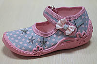 Тапочки на девочку ViGGaMi с бантиком и вышивкой р.19
