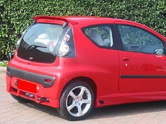 Спойлер Peugeot 107 козырек тюнинг