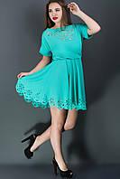 Яркое женское платье в 2х цветах Кэролайн