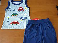 Детский летний костюм майка и шорты Машинки  для мальчика 68--86 см Турция