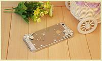 Чехол для Apple iPhone 4/4S ( Горный хрусталь) цветок