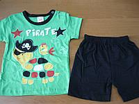 Детский костюм футболка и шорты для мальчика  Черпашка 74-80см Турция