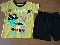 Детский костюм футболка и шорты для мальчика   Черпашка   68- см Турция