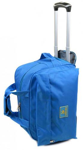 2-колесная сумка тканевая дорожная 34 л Small 303-2 blue голубой