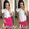 Костюм белая блуза+цветная юбка-карандаш, фото 4