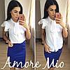 Костюм белая блуза+цветная юбка-карандаш, фото 5