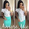 Костюм белая блуза+цветная юбка-карандаш, фото 6
