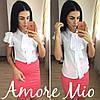 Костюм белая блуза+цветная юбка-карандаш, фото 7