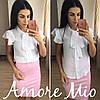 Костюм белая блуза+цветная юбка-карандаш, фото 8