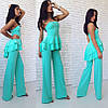 Костюм свободные брюки+блуза с двойным воланом, фото 2