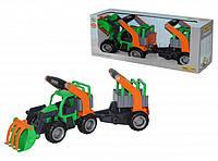 Трактор- погрузчик с полуприцепом Wader 37398