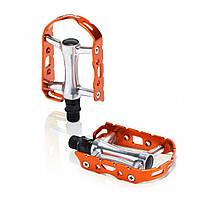 Педали XLC PD-M15, 241 гр, серебристо-оранжевые