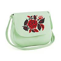 """Женская маленькая сумка из эко-кожи с вышивкой """"Розы"""", фото 1"""