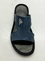 Сланцы, тапочки, шлепанцы кожаные мужские Adidas 40 -45, фото 1