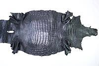 Шкура с брюха сиамского крокодила черная