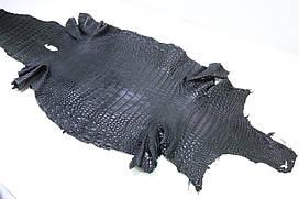 Шкура з черева сіамської крокодила чорна