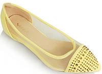 Женские балетки желтого цвета