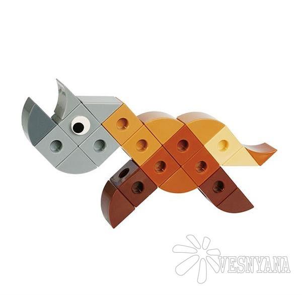 Конструктор Gigo В мире животных. Носорог (3 модели) 7257