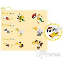 Конструктор Gigo В мире животных. Попугай (3 модели) 7259, фото 3