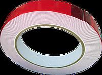 Скотч двухсторонній на пінній основі 18 мм*5 м(посилеий/ червоний), фото 1