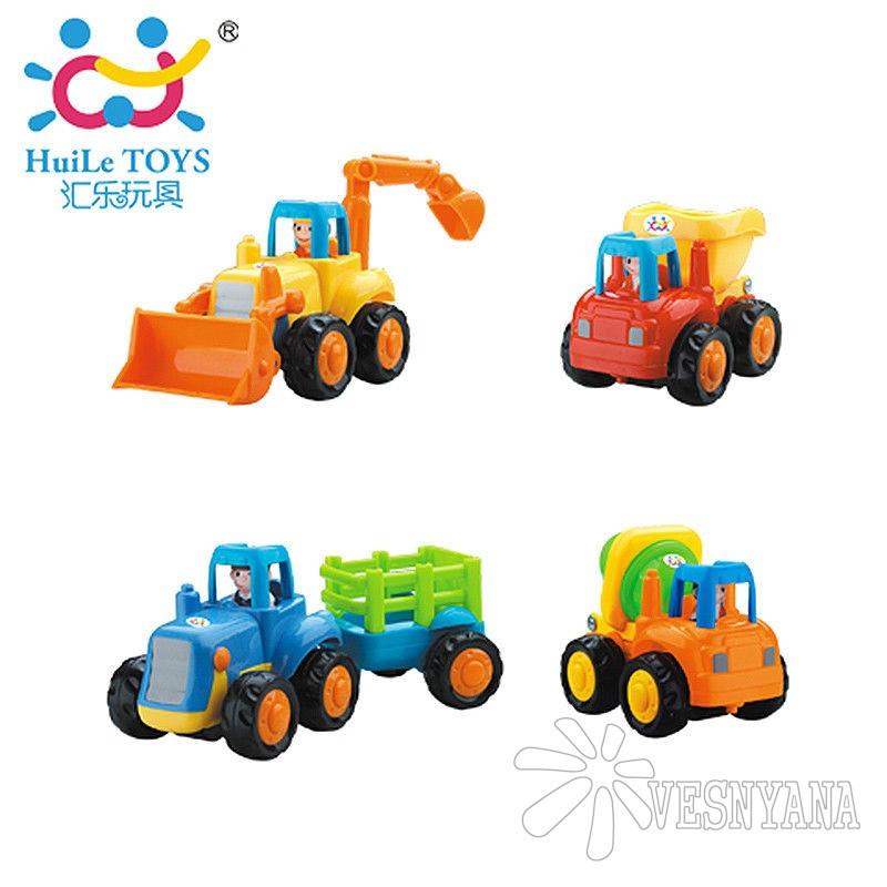 Игрушка Huile Toys Грузовичок (комплект из 4 шт) 326