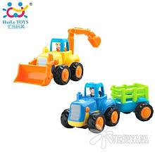 Игрушка Huile Toys Спецмашина (упаковка Трактор 3шт. + Бульдозер 3шт.) 326AB